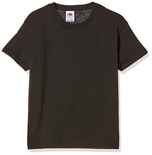 Fruit of the Loom Jungen T-Shirt Ss132b Schwarz