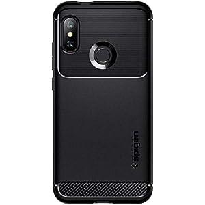 Cover Xiaomi Mi 9 Lite Spigen Custodia Protettiva [Rugged Armor] Protection Nero
