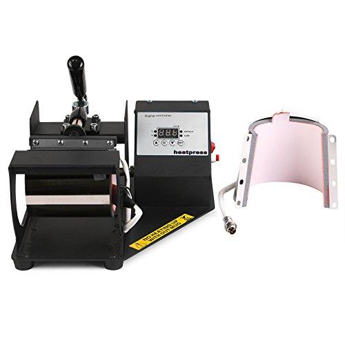 Lartuer Transferpresse Tassenpresse Heat Press Machine für zylindrische und konische Tassen 2 in 1 Digitale Zeitregelung und Temperaturüberwachung (2 in 1 Tassen)
