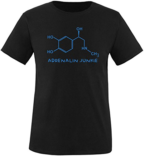 EZYshirt® Adrenalin Junkie Herren Rundhals T-Shirt Schwarz/Blau