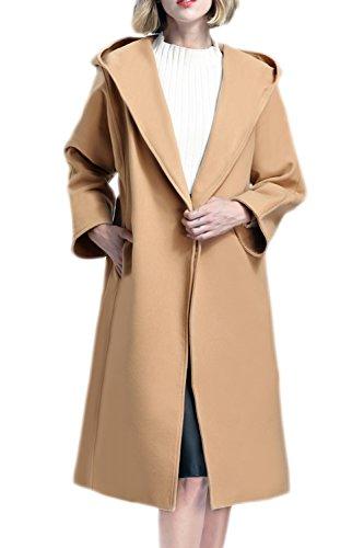 Une Poche À Capuche En Automne Et En Hiver Les Trench Coat Veste Vêtements Maxi Camel