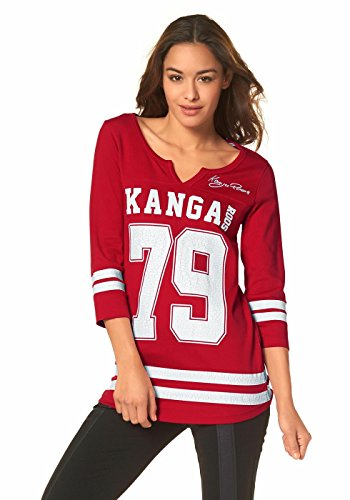 Kangaroos Damen College Shirt 3/4-Arm Rot
