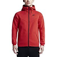 Nike Tech Fleece Windrunner-1M - Cortavientos para hombre, color rojo, talla XXXL