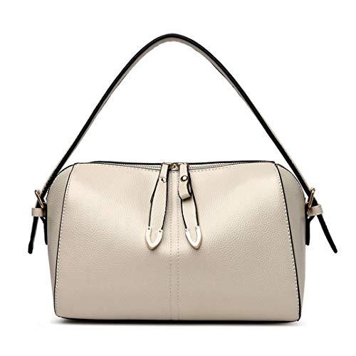 Skyinbags Die Damen Schulter Tasche Farbe Multi-Layer Große Kapazität Einfachheit Fashion, Reis Weiß