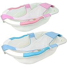 Monsieur Bébé ® Bañera bebé evolutiva con hamaca de baño + grip/antideslizante + evacuación - Dos colores - Norma XP 54-044