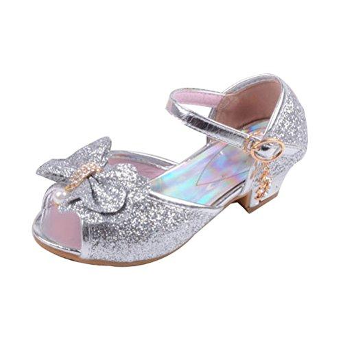 Zhuhaitf Excellent Girls Princess shoes Summer Peep Toe Sandals Children's Casual Shoes silver