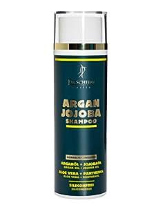 Dr. Schedu Berlin Shampoing à base d'argan et de Jojoba 200 ml, Pour les cheveux secs et frisés, contient Panthénol, sans silicones, Fabriqué en Allemagne!