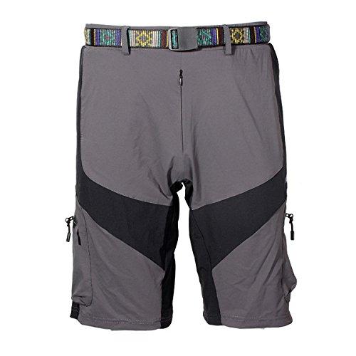 MaMaison007 ARSUXEO esterna di svago del Mens pantaloni di guida della bicicletta della bici Shorts -Gray-S