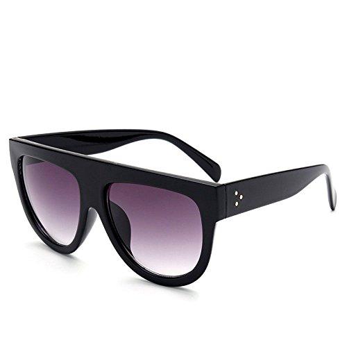 xuexue Persönlichkeit Sonnenbrille Männer Und Frauen Große Kiste Europa Und Die Vereinigten Staaten Mode Sonnenbrillen Flugzeug Dreiecke Nägel Retro Persönlichkeit Schatten Schutzbrillen,Black