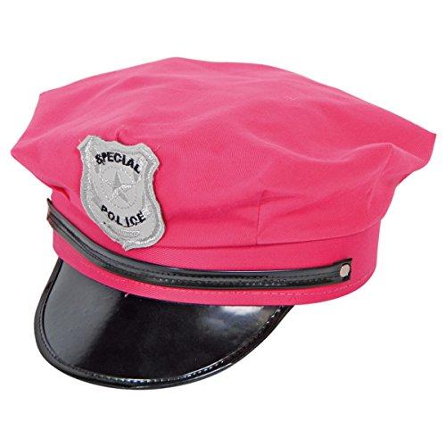 Seiler24 Polizeimütze rosa Hut Karneval
