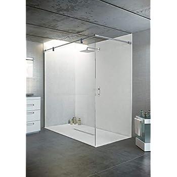 bodengleiche duschwanne mit duschrinne 140x100 aus mineralguss begehbare dusche 100x140 werkseitig einkurzbar
