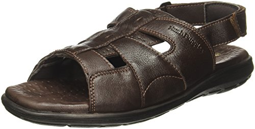 Hush Puppies Men's Charles Sandal Open Brown Leather Athletic & Outdoor Sandals - 8 UK/India (42 EU)(8644921)