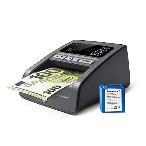 Safescan 155-SX - Detector de billetes falsos con batería recargable incluido