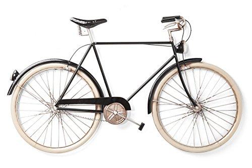 Kare 38488 Wandschmuck City Bike, Edelstahl, Schwarz, 22 x 93 x 56.5 cm