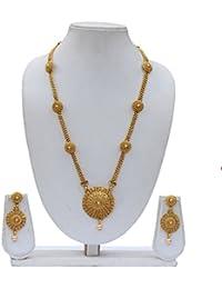 Beautiful Golden Long Necklace Set