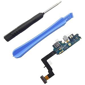 Samsung Galaxy S2 i9100 Ladebuchse MicroUSB Dock Connector Flexkabel Lade Buchse + 2x Werkzeuge + Mikrofon vormontiert- ToKa-Versand®