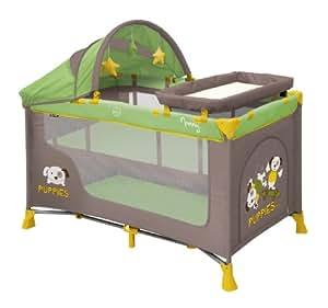 Lit parapluie bébé / Lit pliant avec matelas et sac de transport à 2 niveaux Nanny Lorelli (+ Table à langer et jouets)