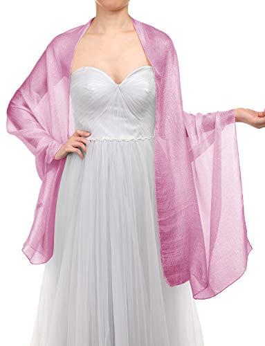 Gardenwed sciarpa scialle da donna eleganti scialli estate sciarpe pashmina stole per sera matrimoni feste spiaggia rose pink