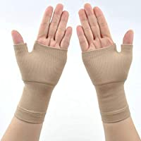 GCDN Wrist and Thumb Support, For Arthritis, Joint Pain, Tendonitis, Sprains, Hand Instability, Sports - Compression Wrist Support Sleeve Palm Hand Brace Carpal Tunnel(M,Nude)
