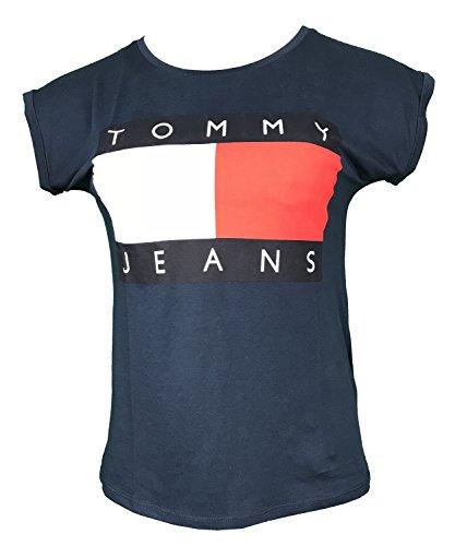 Tommy Hilfiger Damen T-shirts (Tommy Hilfiger - Damen T-Shirt Gr. X-Large, Marineblau)