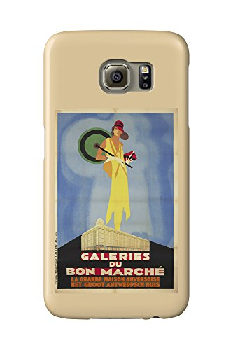 galeries-du-bon-marche-vintage-poster-belgium-c-1929-galaxy-s6-cell-phone-case-slim-barely-there