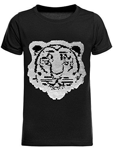 BEZLIT T-Shirt Jungen Wende-Pailletten Tieger Motiv 22719 Schwarz Größe 140