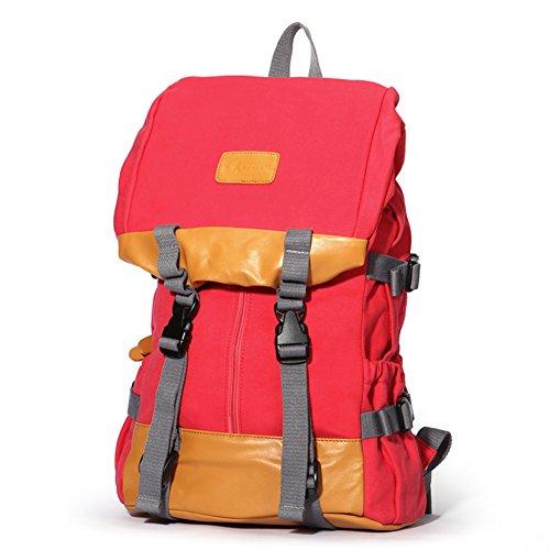Koreanische Studenten Schultaschen/Leinwand Freizeitmode Große Kapazität Rucksack-B E