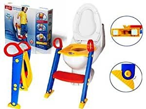 Mummy Hug Baby Toddler Ladder Step Potty Training Toilet Seat / Potty train ladder Toilet seat/Foldable Toilet Training Ladder Space Saving/ Gripper Handles For Stability And Confidence.
