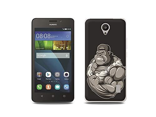 etuo Handyhülle für Huawei Y635 - Hülle, Silikon, Gummi Schutzhülle - Muskulöser Gorilla