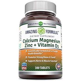 Amazing Formulas Calcium Magnesium Zinc + Vitamin D3 300 Tablets