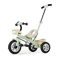 GIFT 2 In1 Kids Tricycle Children 3 Wheel Bike With Removable Push Handle Bar, Adjustable Seat, Non-inflatable Shock Absorbing Titanium Wheel,2-6 Years
