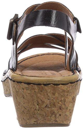 Josef Seibel Kira 01 Damen Offene Sandalen mit Keilabsatz Schwarz (43 600 schwarz)
