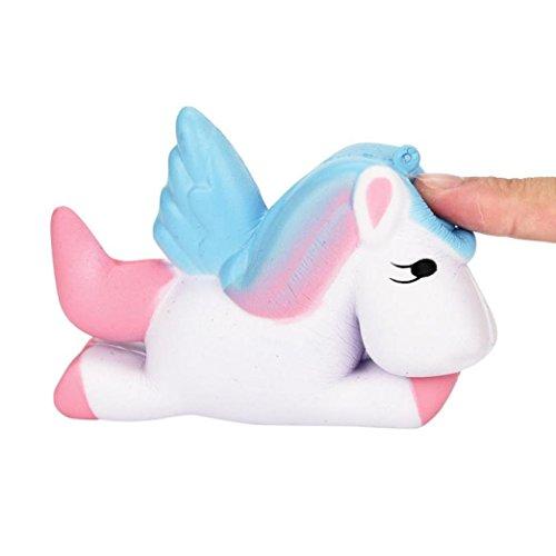 Preisvergleich Produktbild Spielzeug Lovely Rainbow Horse Traumhafte Einhorn Squishy Scented Squishy Langsam steigende Squeeze Spielzeug Stress Relief Stofftier (Weiß)