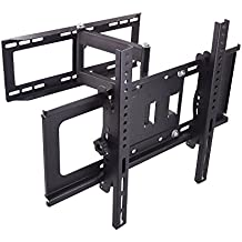Sunydeal TV Supporto a muro con Tilt Swivel per 30 - 60 pulgadas Samsung Sharp Sony Sanyo LG Panasonic 30 32 39 40 42 43 46 47 48 49 50 55 60 Plasma LCD LED 4 K Flat Panel Smart TV VESA hasta 500x400mm y 45KG/99 lbs
