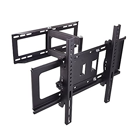 Tilt Swivel TV Bracket Wall Mount for Samsung Sharp Sony Bravia LG Panasonic Sanyo 30 32 39 40 42 43 46 47 48 49 50 55 60 65 inch Plasma LCD LED 4K Flat Panel Smart TV, VESA up to 500x400mm, long wall plate-more stable