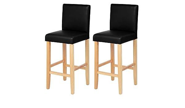 Eugad sgabello da bar sedia con schienale alto luminoso gambe in