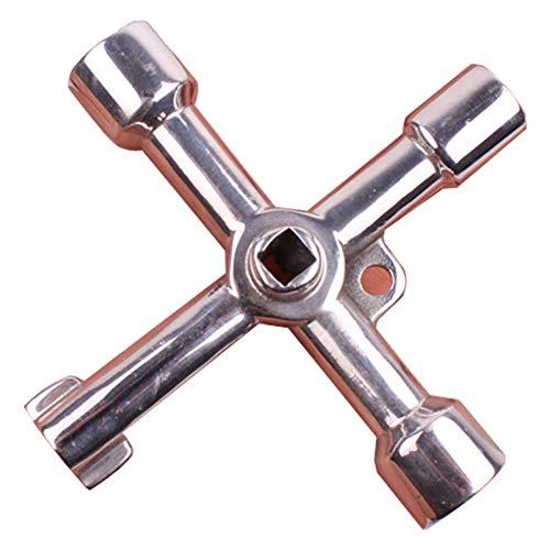 MEMORY Multifunktions-Utility-Schlüssel, Schaltschrankschlüssel Gaszähler-Schlüssel Utility-4-Wege-Schlüssel für die Mehrfachanwendung (3 Stück) -