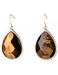 Tiger Eye Drop Earrings For Girls And Women By The Cats Pajama