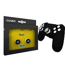 GAIMX RAISX PS4 Stick Control Aim-Hilfe / Zielhilfe - Aim-optimierer - Playstation 4 Zubehör- Thumbstick-Verlängerung mit auswechselbarem Grip-Caps