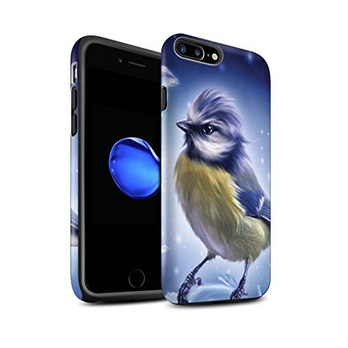 Offiziell Elena Dudina Hülle / Matte Harten Stoßfest Case für Apple iPhone 8 Plus / Pack 18pcs Muster / Die Vögel Kollektion Winter-Vogel/Frost