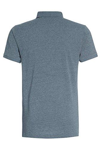 TANTUM O.N. Meliertes Herren Poloshirt T-Shirt,Polo,kurzarm,einfarbig,Freizeit,Männer,uni dunkelblau-meliert