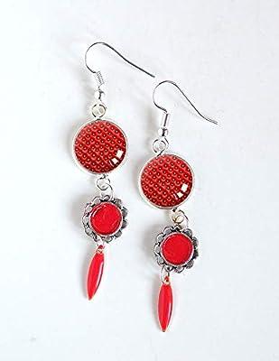 Boucles d'oreilles rouge, inspiration Fraise des bois, Rouge Fraise
