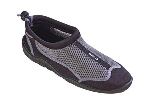 Beco Unisex Aquaschuhe Surfschuhe Stand Up Paddling Wattschuhe N EUe Kollektion Schuhe, Silber/Schwarz, 45 EU