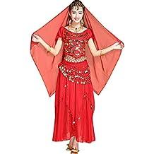 TianBin Traje Profesional para Danza del Vientre Mujer Ropa India Conjunto  Elegantes de 5 Piezas 5db98a2d0f08