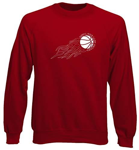 T-shirtshock felpa girocollo uomo rossa t0240 until the last second sport