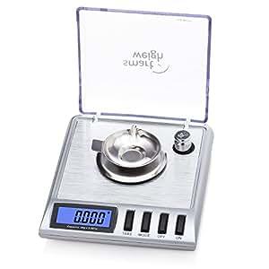 Smart Weigh GEM20 Balance intelligente numérique haute précision 20x0.001g. Idéale pour peser les pierres précieuses, les bijoux et autres objets précieux