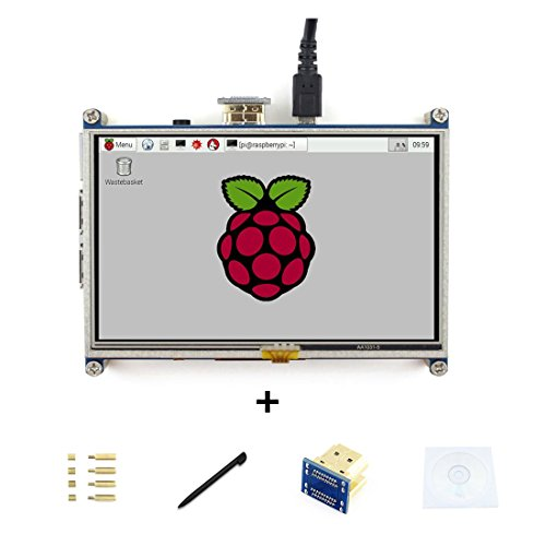 5inch Raspberry pi HDMI LCD Display Module Resistive Touch Screen 800*480 High Resolution HDMI Interface for Raspberry Pi Directly Connect