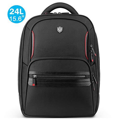 SHIELDON Rucksack Laptop für 15-15,6 Zoll, Rücksack Herren, Daypack Männer, Reiserucksack Wasserdicht, Backpack Wärmeableitung, Rucksäcke 24L für Business Alltag Travel, Schwarz