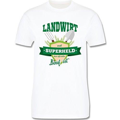 Landwirt - Landwirt - weil Superheld kein offizieller Beruf ist - Herren Premium T-Shirt Weiß