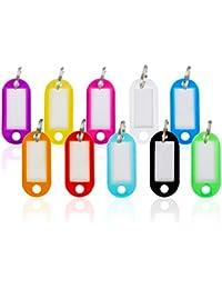 WINTEX Schlüsselschilder 100 Stück – mit auswechselbarem Etikett, witterungsbeständig – Schlüsselanhänger, Schlüsselbeschriftung